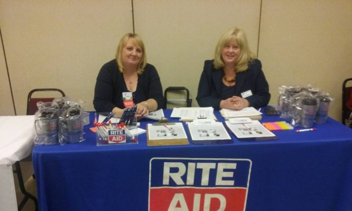 Representatives from Rite Aid at the 2015 Tri-State Area Job Fair in Port Jervis. (Courtesy Anne Horsham)