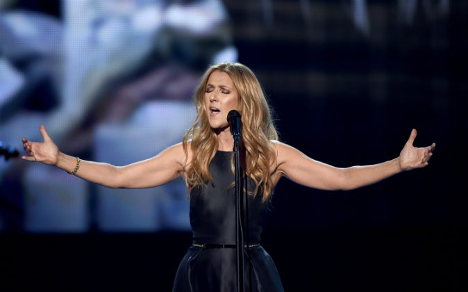 Singer Celine Dion performs onstage during the 2015 American Music Awards at Microsoft Theater on November 22, 2015 in Los Angeles, California. (Kevin Winter/Getty Images)