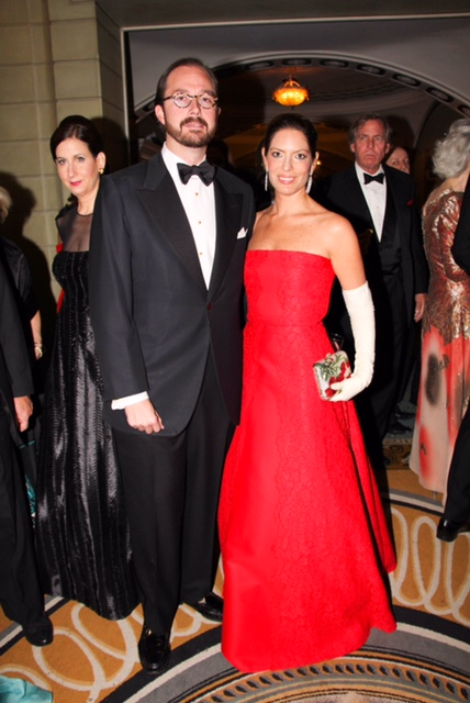 J. Robby Pin, Nicole DiCocco at the French Heritage Society Gala at The Pierre Hotel in New York on Nov 10, 2014. (RONALD RIQUEROS/PatrickMcMullan.com)