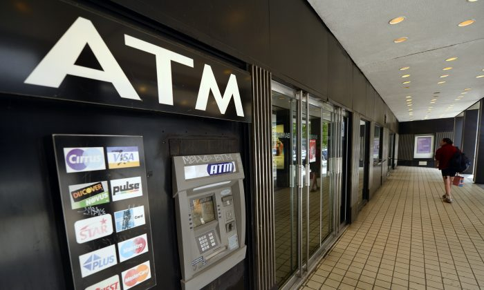 An ATM machine on Third Avenue is viewed in New York on May 10, 2013. (Timothy A. Clary/AFP/Getty Images)