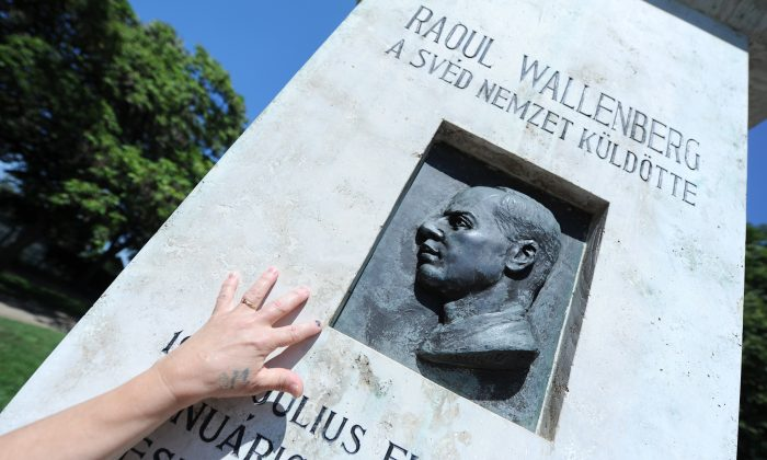 A memorial stone of late Swedish diplomat Raoul Wallenberg in St. Istvan Park of Budapest on Aug. 1, 2012, prior to the 100th anniversary of Wallenberg's birthday on Aug. 4. (Attila Kisbenedek/AFP/Getty Images)