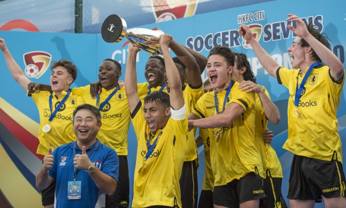 Aston Villa, Cup  Winners of the Main tournament of the HKFC Citi Soccer Sevens on 22 May 2016 at the Hong Kong Football Club. (Li Man Yuen/Power Sport Images)