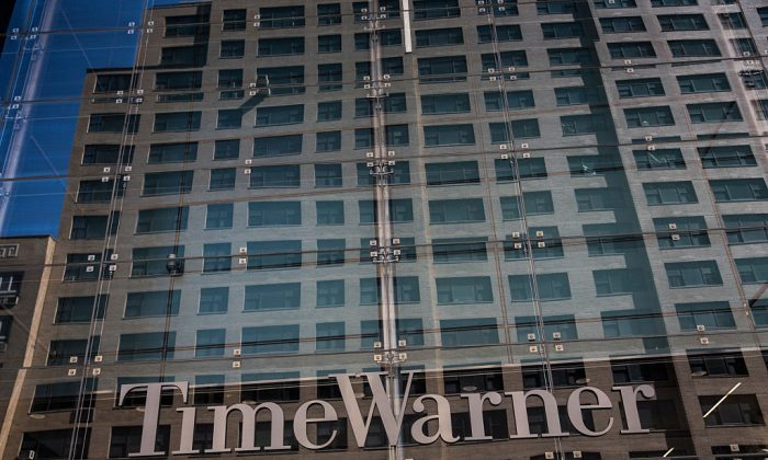 Time Warner Cable headquarters are seen in Columbus Circle on May 26, 2015 in New York City. Charter Communications completed its acquisition of Time Warner Cable in May 2016. (Photo by Andrew Burton/Getty Images)