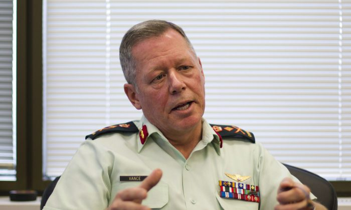 Chief of Defence Staff Gen. Jonathan Vance in Ottawa, Dec. 14, 2015. (The Canadian Press/Fred Chartrand)