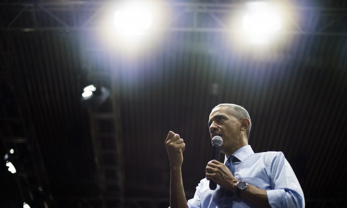 US President Barack Obama speaks at the Young Southeast Asian Leaders Initiative town hall event in Ho Chi Minh City on May 25, 2016. (JIM WATSON/AFP/Getty Images)