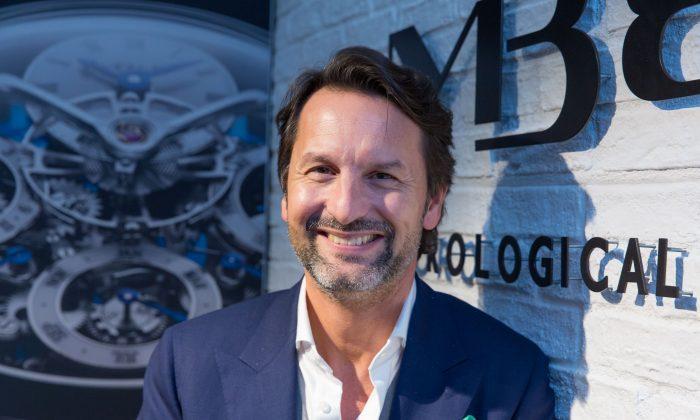 Maximilian Büsser, CEO and founder of MB&F in Basel, Switzerland. (Matthias Kehrein/Epoch Times)