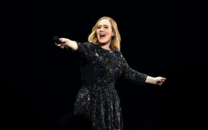 Adele performs at Genting Arena on March 29, 2016 in Birmingham, England. (Gareth Cattermole/Getty Images)