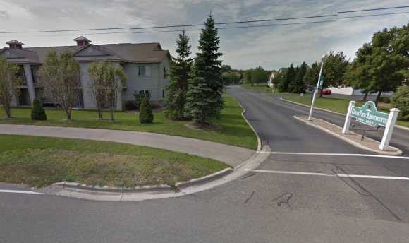A row of apartments in the Clear View Apartment complex in Holland Township, Michigan—similar to the units that were burnt down by Barbara Pellow's boyfriend in his attempt to cook a squirrel. (Google Maps image)