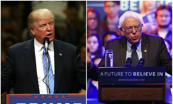 President Donald Trump and Sen. Bernie Sanders (I-Vt.) (Spencer Platt and Darren Hauck/Getty Images)