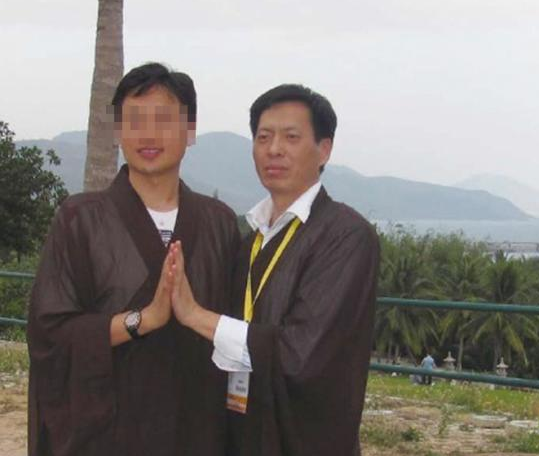 Li Peng's academic supervisior Zhang Jianyu (R). (via The Paper)