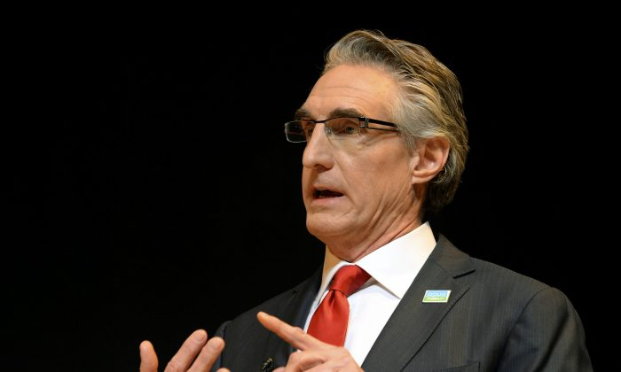 Republican Doug Burgum speaks during at a debate in Bismarck on March 3, 2016. (Will Kincaid/The Bismarck Tribune via AP)