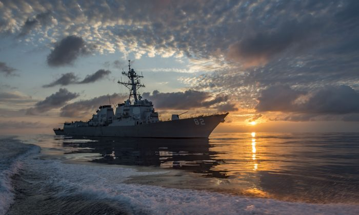 The Arleigh Burke-class guided-missile destroyer USS Lassen (DDG 82) patrols the eastern Pacific Ocean on March 10, 2016. (U.S. Navy/Mass Communication Specialist 2nd Class Huey D. Younger Jr.)