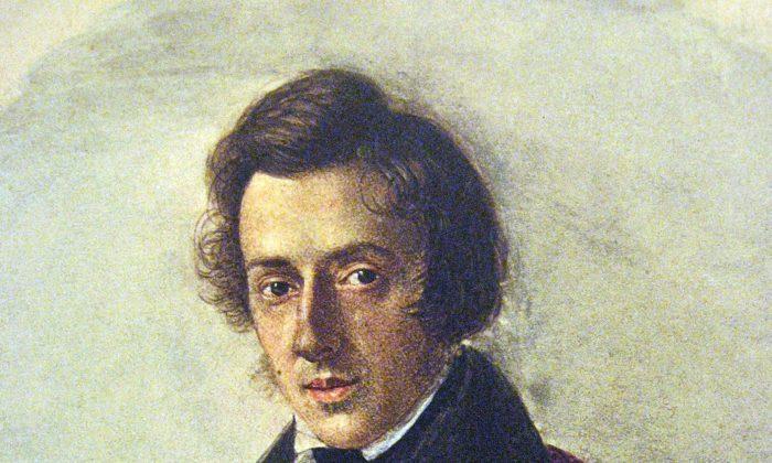 Frederic Chopin at 25, by his fiancée Maria Wodzińska, (Public Domain)