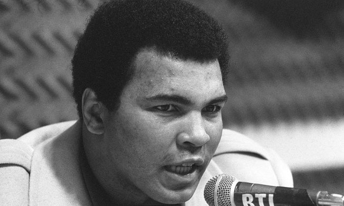 Muhammad Ali (Cassius Clay) during a press conference in Paris in March 4, 1976.        (AFP/Getty Images)