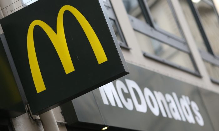 A picture taken on January 22, 2014 in Paris, shows the logo of a US fast food restaurant Mac Donald's.   (KENZO TRIBOUILLARD/AFP/Getty Images)