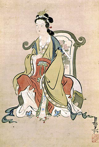 A depiction of the Queen Mother of the West from Edo-era Japan. (Kimbell Art Museum/PD-Art)