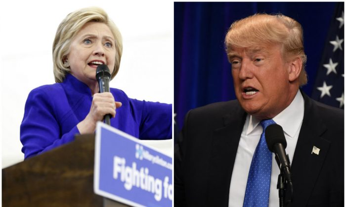 Presidential candidates Hillary Clinton (L) and Donald Trump. (Jonathan Alcorn; Timothy A. Clary/AFP/Getty Images)
