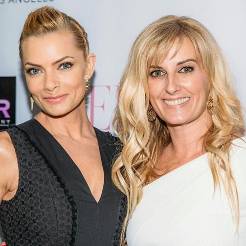 Courtenay Hall with Jaime Pressly at the launch party for Jaime's May/June 2016 BELLA New York cover at Sur in Los Angeles.