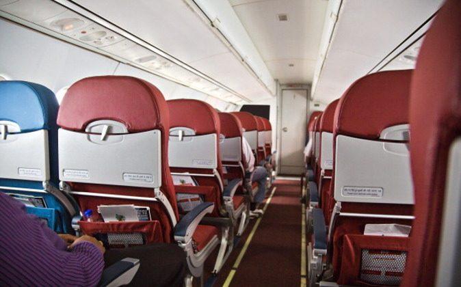 Interiors of an airplane, Shimla Airport, Shimla, Himachal Pradesh, India. (Photo by: Exotica.im/UIG via Getty Images)