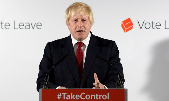 British MP Boris Johnson at a press conference following the results of the EU referendum at Westminster Tower in London, England, on June 24, 2016. (Stefan Rousseau/Getty Images)
