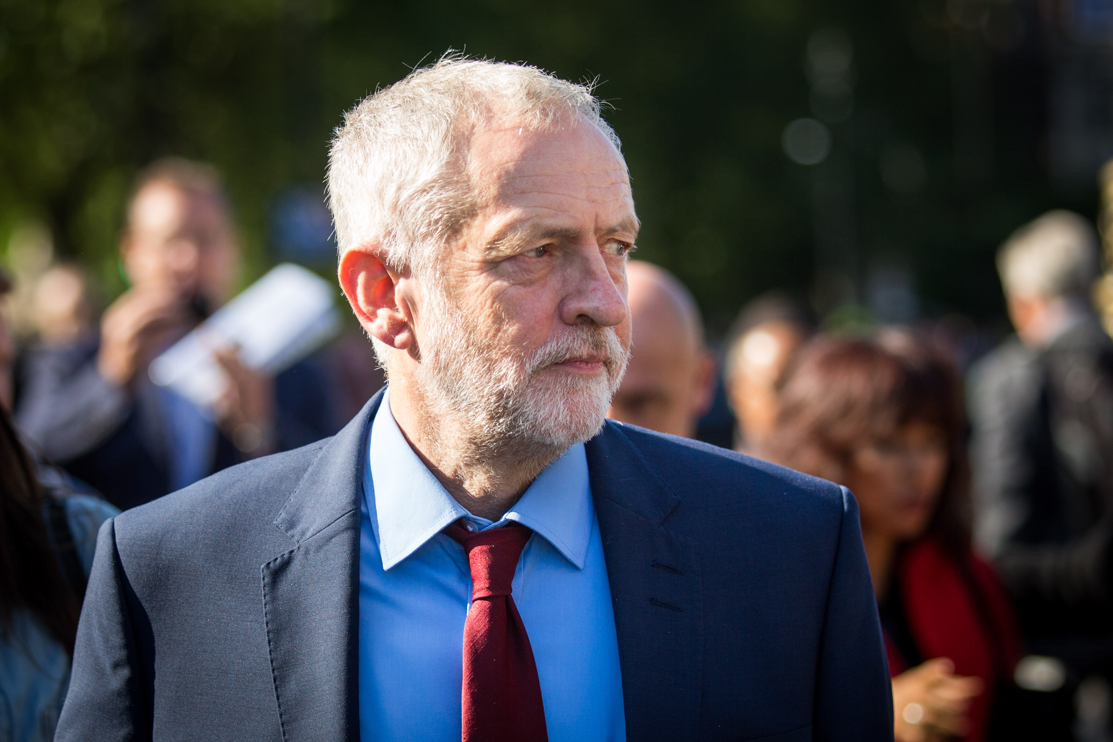 British MP Jeremy Corbyn, leader of the Labour Party, walks towards the Houses of Parliament in London, U.K., on June 24, 2016. (Rob Stothard/Getty Images)