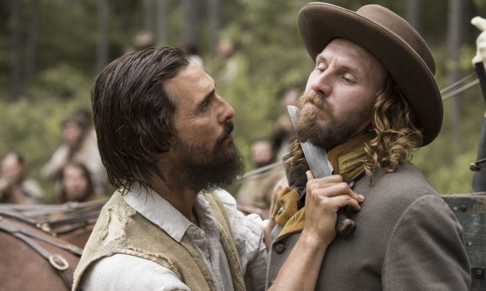 """(L–R) Matthew McConaughey and Christopher Berry star in """"Free State of Jones"""" (Murray Close/STX Productions, LLC)"""