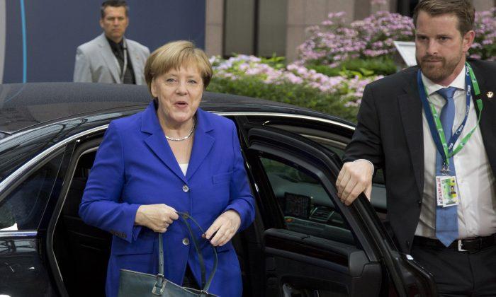 German Chancellor Angela Merkel arrives for an EU summit in Brussels on  June 29, 2016. (AP Photo/Geoffroy Van der Hasselt)
