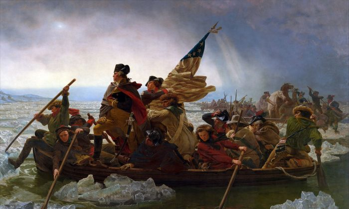 """Emanuel Leutze's paiting titled """"George Washington Crossing the Delaware,"""" from 1851. (The Metropolitan Museum of Art)"""