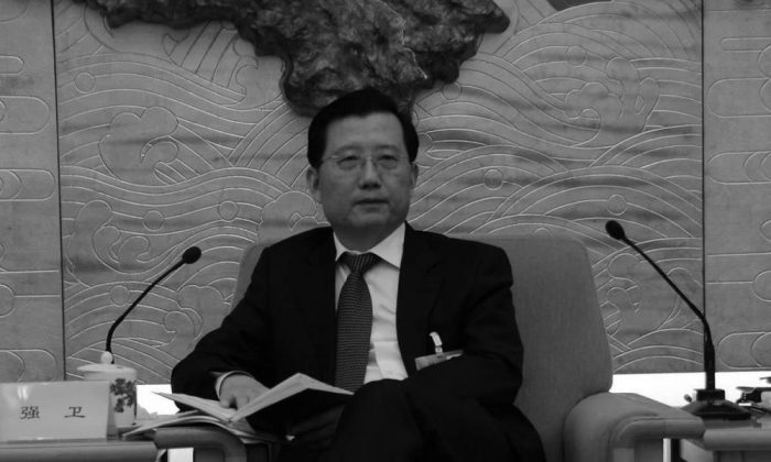 Qiang Wei attended a meeting at the Great Hall of the People on March 6, 2013. Qiang was recently removed from his post as Party Secretary of Jiangxi Province. (People's Net)