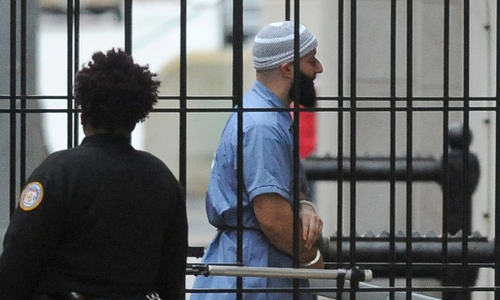 Adnan Syed enters Courthouse East in Baltimore prior to a hearing on Feb. 3, 2016. (Barbara Haddock Taylor//The Baltimore Sun via AP)
