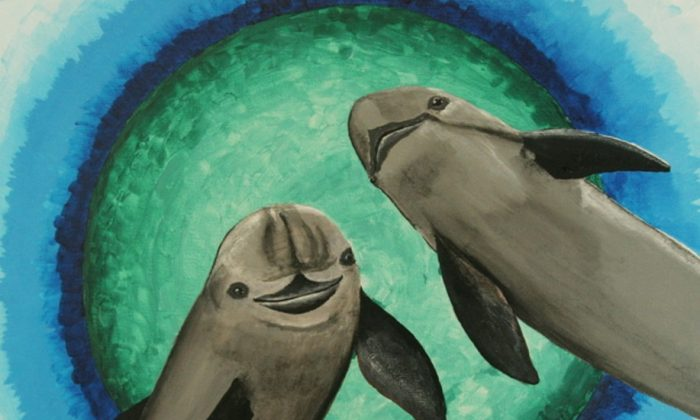 Painting of vaquitas. (Courtesy of Barbara Taylor)