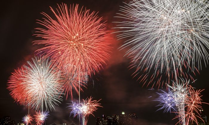 New York's Fouth of July celebrations. (Annie Zhuo/Epoch Times)