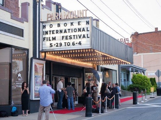 The entrance of the Paramount Theatre in Middletown on May 29, 2015, which held the week-long Hoboken International Film Festival. (James Smith/Epoch Times)