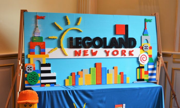 Mural at the LEGOLAND New York open house in Goshen on July 7, 2016. (Yvonne Marcotte/Epoch Times)