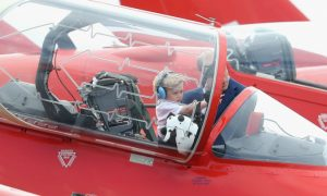 Prince George Visits Red Arrow Hawk on First Royal Engagement