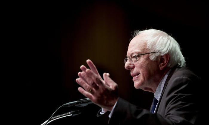 Democratic presidential candidate Sen. Bernie Sanders (I-Vt.) speaks in Albany, N.Y., on June 24, 2016. (AP Photo/Mike Groll, File)