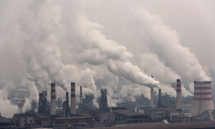 A general view of Qian'an steelworks of Shougang Corporation in Tangshan, China, on Jan. 20, 2016. (Xiaolu Chu/Getty Images)