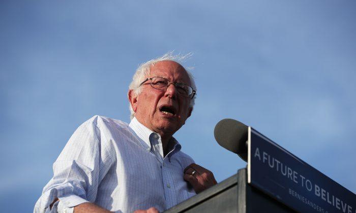 Sen. Bernie Sanders (I-VT) during a rally near the Robert F. Kennedy Memorial Stadium June 9, 2016 in Washington, DC.   (Alex Wong/Getty Images)