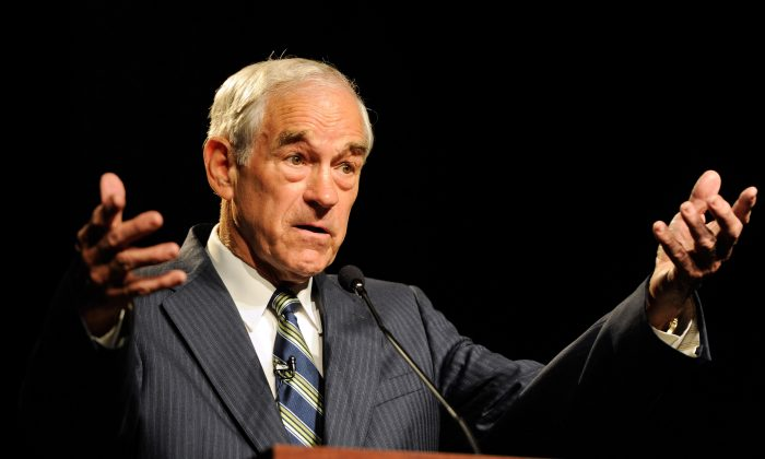 Rep. Ron Paul (R-TX) in Las Vegas, Nev., on May 17, 2011. (Ethan Miller/Getty Images)