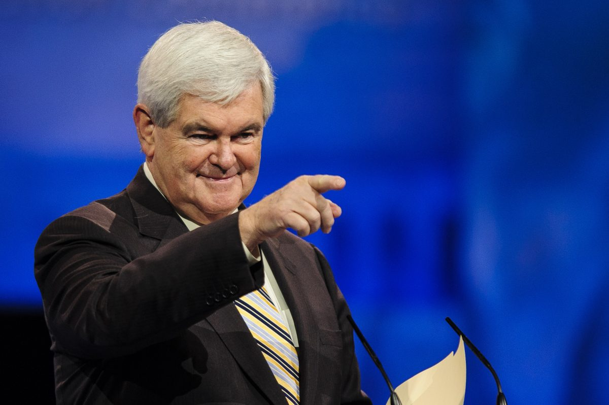 NATIONAL HARBOR, MD - MARCH 16: Newt Gingrich, former presidential candidate and Speaker of the U.S. House of Representatives, speaks at the 2013 Conservative Political Action Conference (CPAC) March 16, 2013 in National Harbor, Maryland. The American Conservative Union held its annual conference in the suburb of Washington, DC to rally conservatives and generate ideas. (Photo by Pete Marovich/Getty Images)