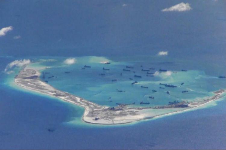 China dredging Mischief Reef in the Spratly Islands