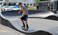 Skateboard Company Demos Pump Track in Middletown