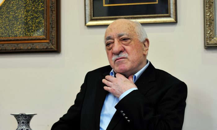 Islamic cleric Fethullah Gulen speaks to members of the media at his compound in Saylorsburg, Pa., on July 17, 2016. (Chris Post/AP Photo)