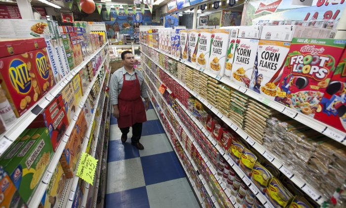 Grocery market owner Ray Martinez at La Playa Market in Inglewood, Calif., on Nov. 1, 2012. Martinez opposed a GMO labeling proposal in California. (AP Photo/Damian Dovarganes)