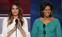 Michelle Obama Talks Melania Trump On 'Colbert'
