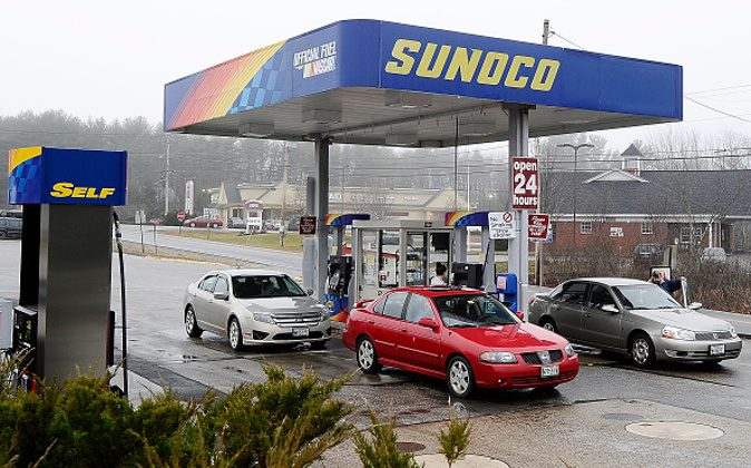 A Sunoco gas station in a file photo. (Photo by Gordon Chibroski/Portland Press Herald via Getty Images)