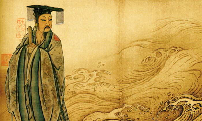 Composite Song Dynasty depictions of Yu the Great and the Yellow River.  (National Palace Museum/PD-Art;Beijing Palace Museum/PD-Art)