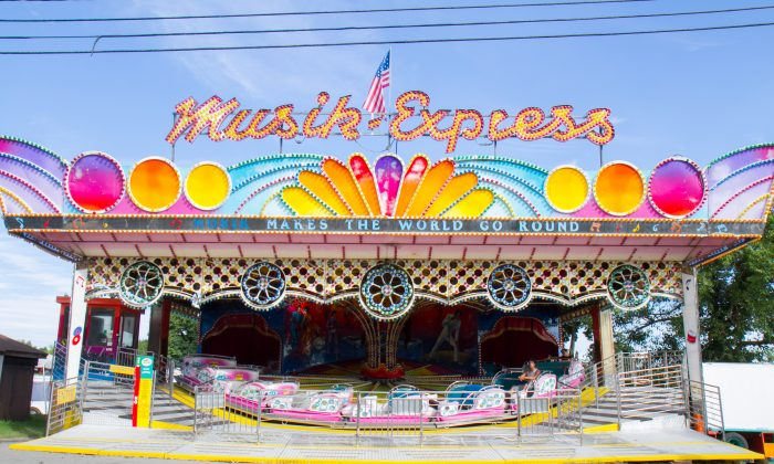 The Musik Express ride at the Orange County Fair in Wallkill on July 21, 2016. (Holly Kellum/Epoch Times)