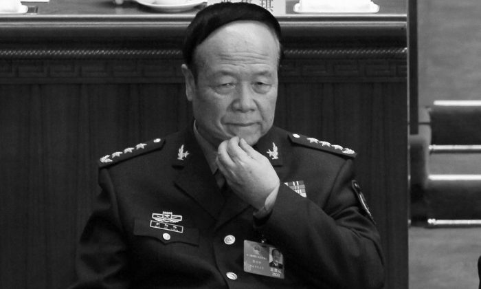 Former Central Military Commission vice chair General Guo Boxiong in Beijing on March 9, 2012. Guo was sentenced to life in prison by a Chinese military court on July 25, 2016. (AP Photo/Ng Han Guan)