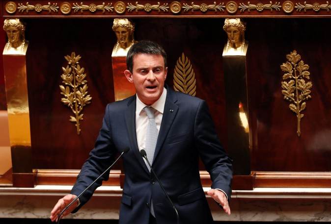 French Prime Minister Manuel Valls at a debate aiming at extending the country's state of emergency for a fourth time at the French National Assembly in Paris on July 19, 2016. (Francois Guillot/AFP/Getty Images)